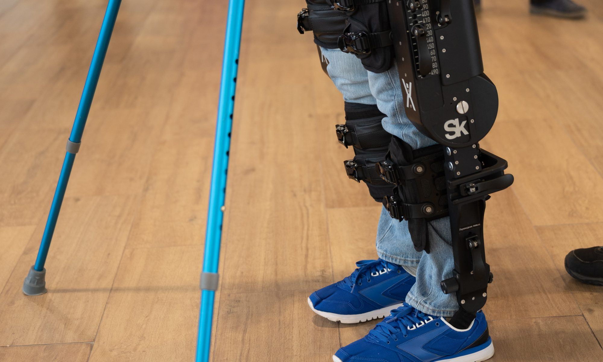 Exoskeleton to help a person walk